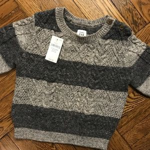 Baby GAP grey stripped sweater